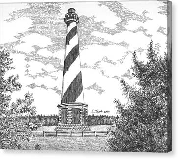 Cape Hatteras Lighthouse Canvas Print by Lawrence Tripoli