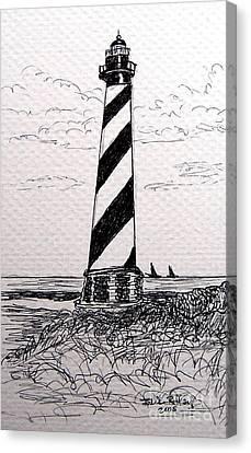 Cape Hatteras Lighthouse Nc Canvas Print by Julie Brugh Riffey