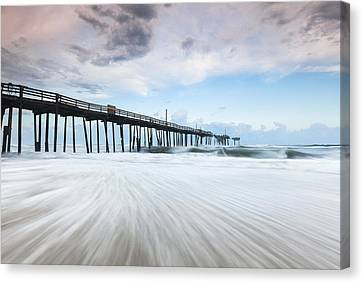 Cape Hatteras Outer Banks Frisco North Carolina Fishing Pier Canvas Print