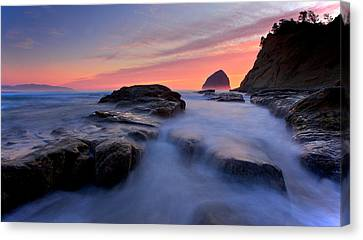 Canvas Print featuring the photograph Cape Kiwanda by Evgeny Vasenev