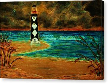 Cape Lookout Light House Canvas Print by Jeanette Stewart