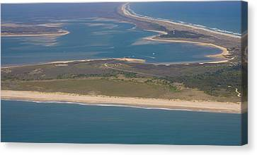Cape Lookout Lighthouse Distance Canvas Print by Betsy Knapp