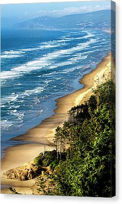 Cape Lookout Summer Waves Oregon Coast Canvas Print