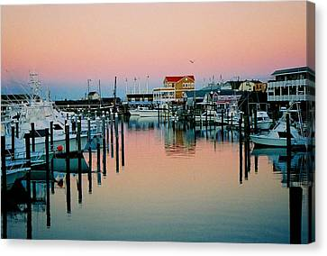 Canvas Print featuring the photograph Cape May After Glow by Steve Karol