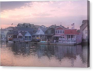 Cape May Harbor Canvas Print by Tom Singleton