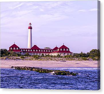 Canvas Print featuring the photograph Cape May Light House by Linda Constant