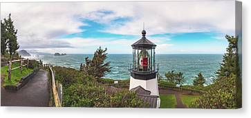 Canvas Print featuring the photograph Cape Meares Bright by Darren White