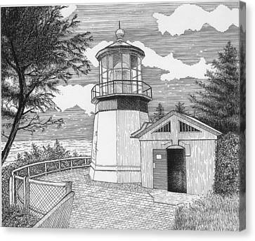 Cape Meares Lighthouse Canvas Print by Lawrence Tripoli