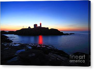Cape Neddick Light Canvas Print by Jim Beckwith