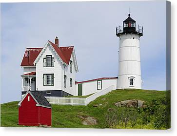 Cape Neddick Light Canvas Print by Luke Moore