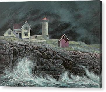 Cape Neddick Light Canvas Print