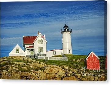 Nubble Lighthouse Canvas Print - Cape Neddick Lighthouse by Charles Dobbs
