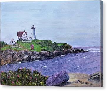 Cape Neddick Lighthouse Canvas Print by Daniel Smith