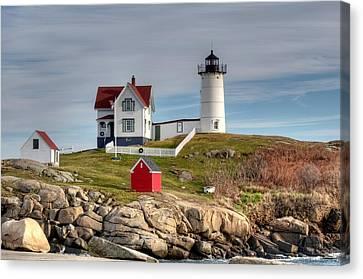 Nubble Lighthouse Canvas Print - Cape Neddick Lighthouse by Monica Scanlan