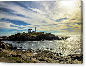 Cape Neddick Lighthouse Canvas Print by Sherman Perry