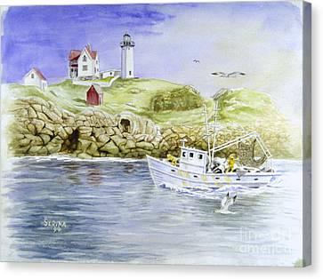 Cape Neddick Lighthouse Canvas Print by Stephen Serina