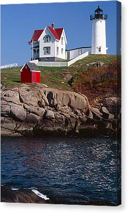 Cape Neddick Lighthouse York Maine Canvas Print by George Oze