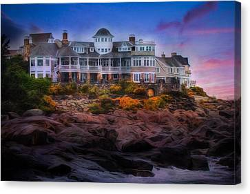 Canvas Print featuring the photograph Cape Neddick Maine Scenic Vista by Shelley Neff