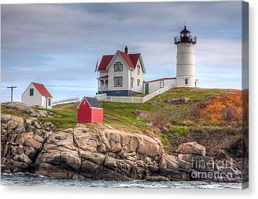 Cape Neddick Nubble Lighthouse I Canvas Print by Clarence Holmes