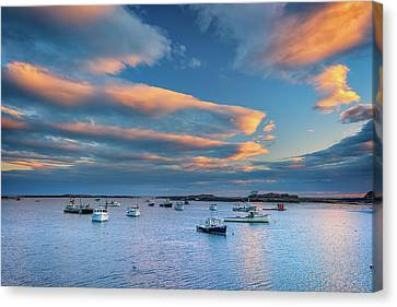Canvas Print featuring the photograph Cape Porpoise Harbor At Sunset by Rick Berk