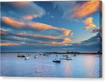 Cape Porpoise Harbor At Sunset Canvas Print by Rick Berk