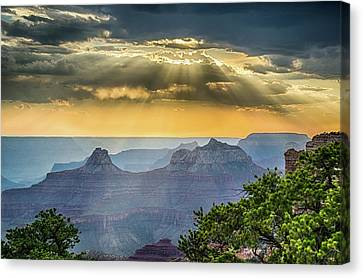 Cape Royal Crepuscular Rays Canvas Print