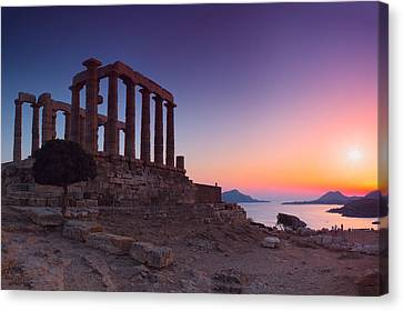 Cape Sounion Canvas Print by Emmanuel Panagiotakis