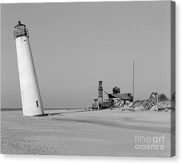 Cape St. George Lighthouse Florida Print Three Canvas Print by Pd