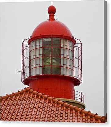 Canvas Print featuring the photograph Cape St. Vicente Lighthouse In Portugal by Kirsten Giving