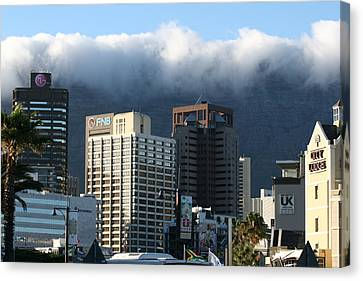 Cape Town - Smoking Mountain Canvas Print by Andrei Fried