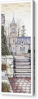 Capernwray Hall Clock  Lancashire Canvas Print by Sandra Moore