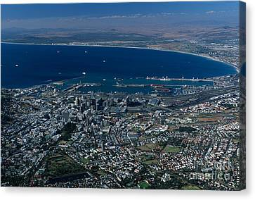 Capetown South Africa Aerial Canvas Print by Sandra Bronstein
