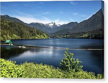 Capilano Lake  - Reservoir  Our Drinking Water Canvas Print by Alex Lyubar
