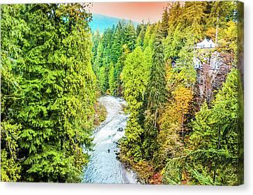 Capilano River, Vancouver Canvas Print by Art Spectrum