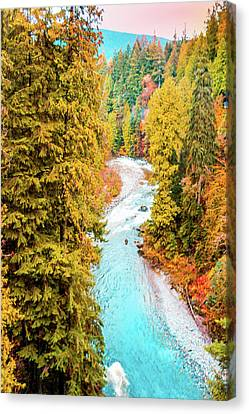 North Vancouver Canvas Print - Capilano River, Vancouver Bc, Canada by Art Spectrum