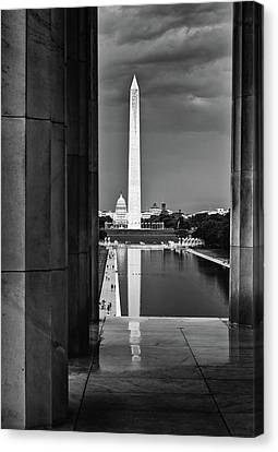 Capita And Washington Monument Canvas Print