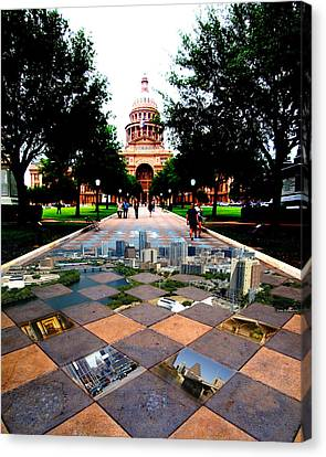 Capital City Collage Austin Texas Canvas Print