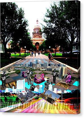 Capital Collage Austin Music Canvas Print