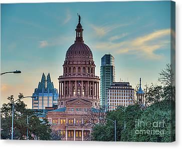 Capital Of Texas At Dusk Canvas Print