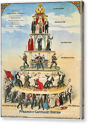 Capitalist Pyramid, 1911 Canvas Print by Granger