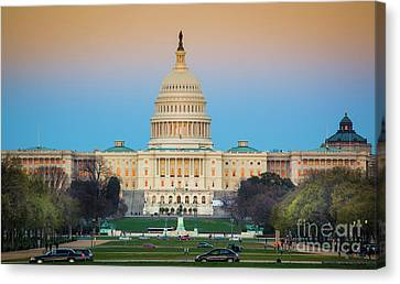 Capitol Hill Canvas Print by Inge Johnsson