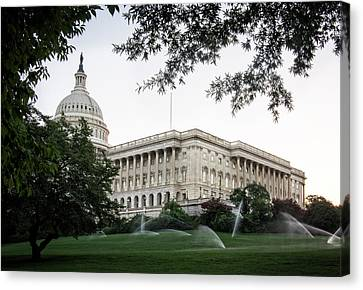 Canvas Print featuring the photograph Capitol Lawn by Greg Mimbs