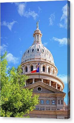 Capitol Of Texas - State Building - Austin Texas Canvas Print by Gregory Ballos