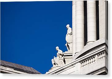 Capitol Statues - Madison Wisconsin-1 Canvas Print by Steven Ralser