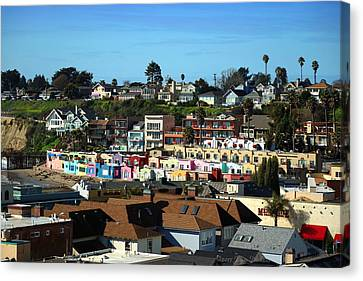 Capitola Beach  Rentals Two Canvas Print