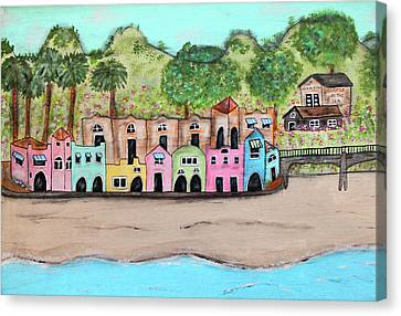 Capitola By The Sea Canvas Print by Cindy Kay Frazier