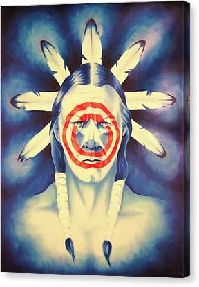 Cap'n Native America Canvas Print by Robert Martinez