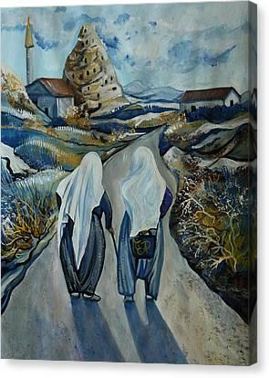 Cappadocia Impressions. Old Friends Canvas Print by Anna Duyunova