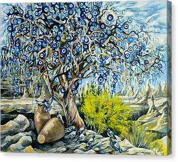 Cappadocia Nazar Tree Canvas Print by Anna Duyunova