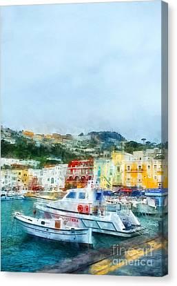 Capri Canvas Print by HD Connelly